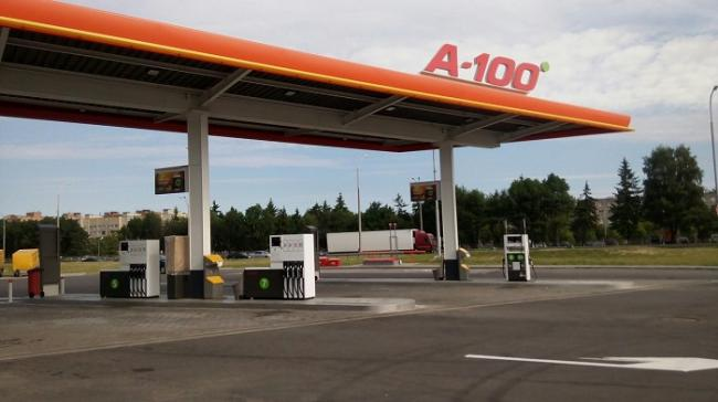 A-100 Chain of Petrol Stations Opens a Supermarket at the Petrol Station in Novy Dvor